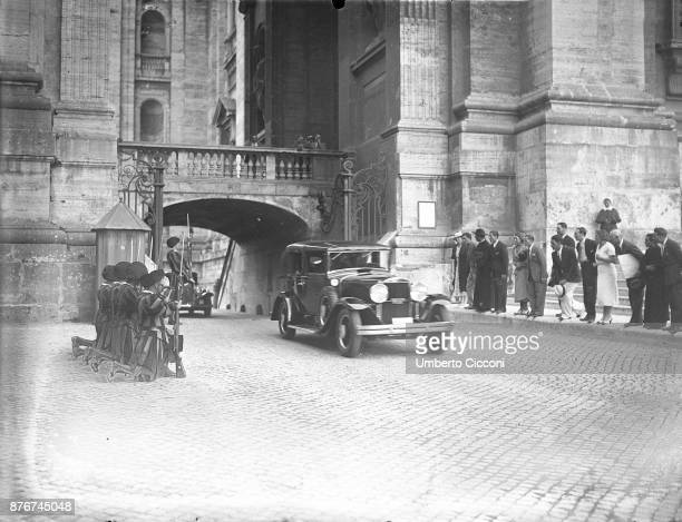 Pope Pius XI leaving Vatican City, 1937.