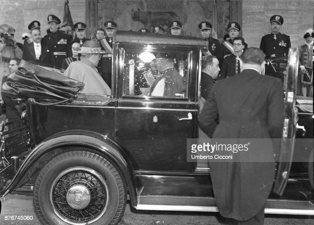 Pope Pius XII visiting the Italian royalty at Quirinal Palace Rome 1939