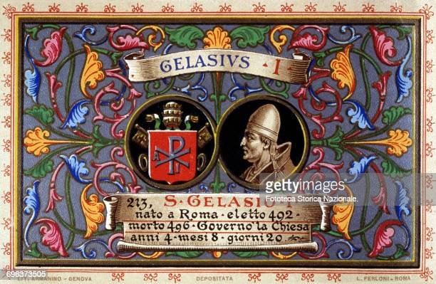 Pope saint Gelasius I born in Rome elected in 492 He ruled the church for 4 years 8 months and 20 days He was the last pope of African origin and on...