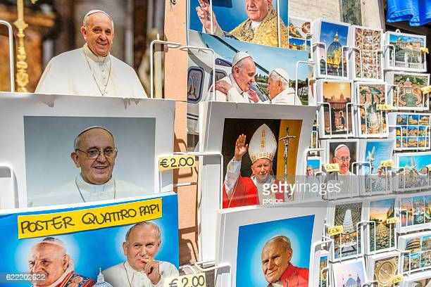 Pope souvenirs in Rome