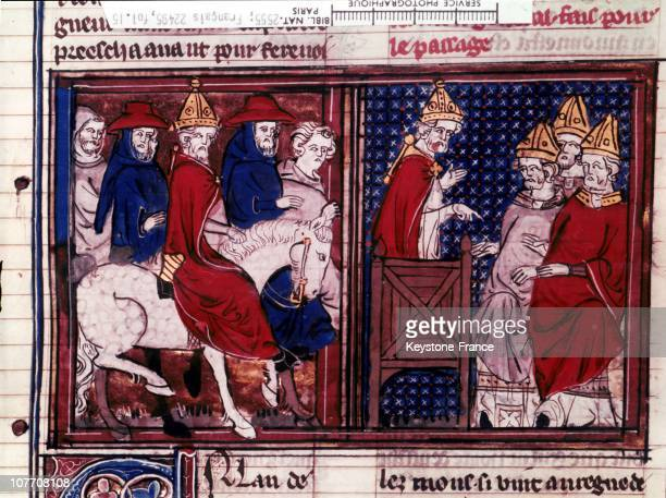 Pope Urban Ii Preached The First Crusade In 1095 In The Roman De Godefroy De Bouillon, Pope Urban Ii Preacher The First Crusade In 1095 From The...