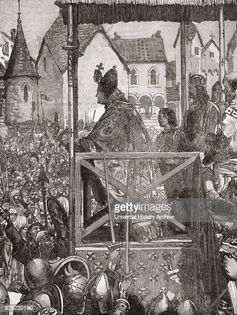 Pope Urban II preaching the First Crusade in the market place of Clermont France in the 11th century Pope Urban II c 1042 –1099 born Otho de Lagery...