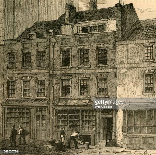 Pope's House Plough Court Lombard Street ' Poet and satirist Alexander Pope was 'said to have been born in this Court [in the City of London] Rebuilt...
