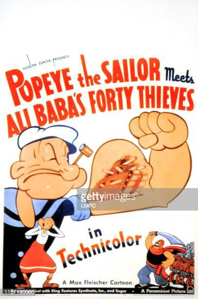 Popeye The Sailor Meets Ali Baba's Forty Thieves poster Popeye the Sailor Man Olive Oyl Bluto 1937