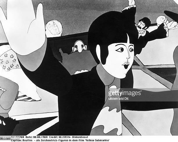 Popgruppe GB als ZeichentrickFiguren in dem Film 'Yellow Submarine' 1968