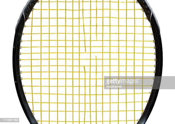 popped tennis racket strings