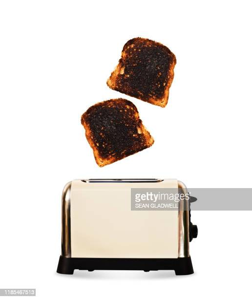popped toast - breakfast stock pictures, royalty-free photos & images