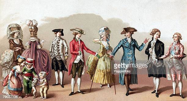 Popperfoto via Getty Images The Book Volume 1 Page 52 Picture 7 A group of people wearing typical 17th century fashionable clothing Produced circa...
