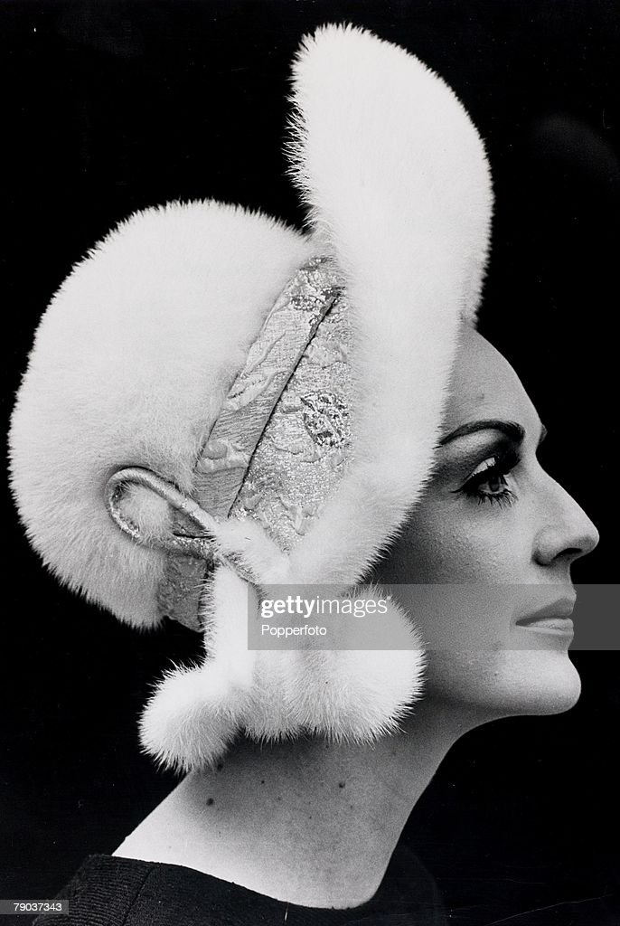 Popperfoto, The Book, Volume 1, Page 67, Picture 6, 21st May 1968, A picture of a snow-white mink with silver lame and white mink bobble which is worn by Ann Milling during a show in London