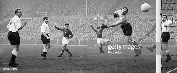 Popperfoto The Book Volume 1 Page 85 Picture 4 Football Wembley Stadium London 25th November 1953 England 3 v Hungary 6 England skipper Billy Wright...