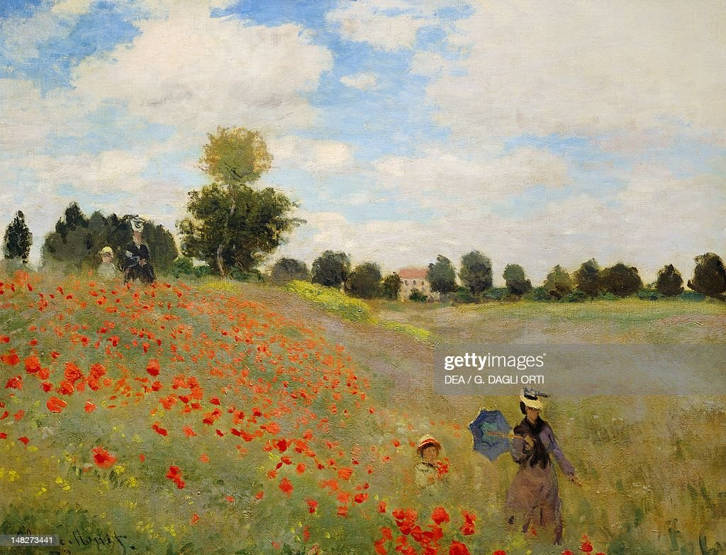 Poppies at Argenteuil, 1873, by Claude Monet (1840-1926), oil on canvas, 50x60 cm. (Photo by DeAgostini/Getty Images); Paris, Musée D'Orsay (Art Gallery).
