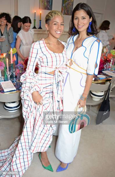 Poppy Ajudha and Jasmine Hemsley attend the NETAPORTER dinner hosted by Alison Loehnis to celebrate the launch of Rosie Assoulin's exclusive...