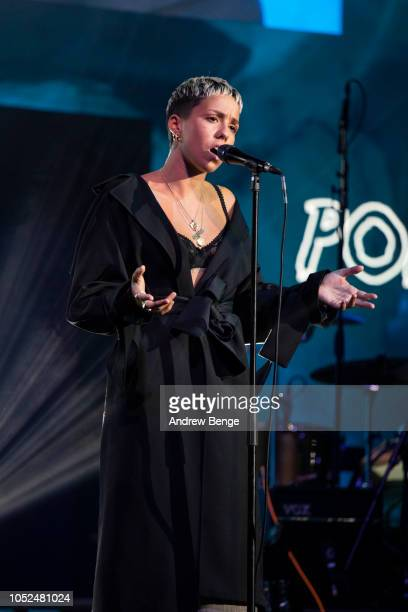 Poppy Ajudha performs live at the Audio and Radio Industry Awards at First Direct Arena Leeds on October 18 2018 in Leeds England