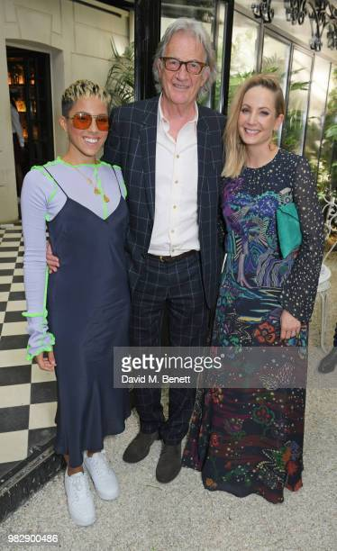 Poppy Ajudha Sir Paul Smith and Joanne Froggatt all wearing Paul Smith attend the Paul Smith SS19 VIP dinner during Paris Fashion Week at Hotel...