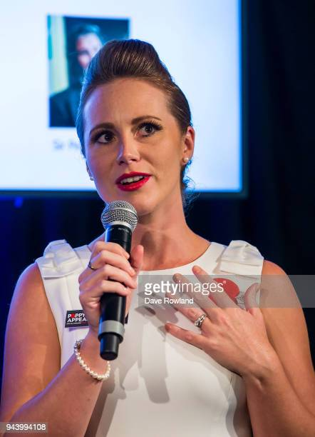 Poppy Ambassador Naval Reservist and recording artist Rebecca Nelson during the RSA 2018 Poppy Appeal National Launch on April 10 2018 in Auckland...