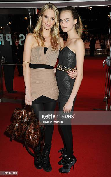Poppy and Cara Delevingne attend the 'Remember Me' UK film premiere at the Odeon Leicester Square on March 17 2010 in London England