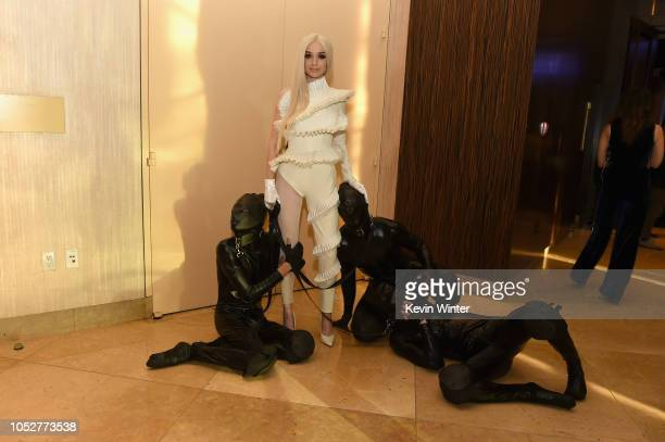 Poppy and guests attend The 8th Annual Streamy Awards at The Beverly Hilton Hotel on October 22 2018 in Beverly Hills California
