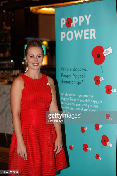 Poppy Appeal ambassador Rebecca Nelson during the RSA 2017 Poppy Appeal National Launch on April 5, 2017 in Auckland, New Zealand. Poppy Day is on...
