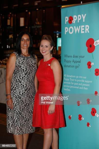 Poppy Appeal ambassadors Tina Grant and Rebecca Nelson during the RSA 2017 Poppy Appeal National Launch on April 5, 2017 in Auckland, New Zealand....