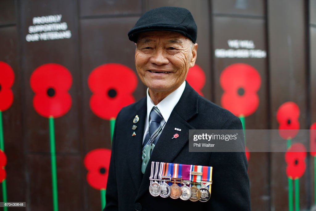 RSA Poppy Appeal collector Sam Noon from the Auckland RSA poses for a portrait on April 20, 2017 in Auckland, New Zealand. ANZAC Day commemorates the day Australian and New Zealand Army Corp (ANZAC) landed on the shores of Gallipoli on April 25, 1915, during World War 1. Anzac day is a national holiday in New Zealand and Australia, marked by a dawn service held during the time of the original Gallipoli landing and commemorated with ceremonies and parades throughout the day.