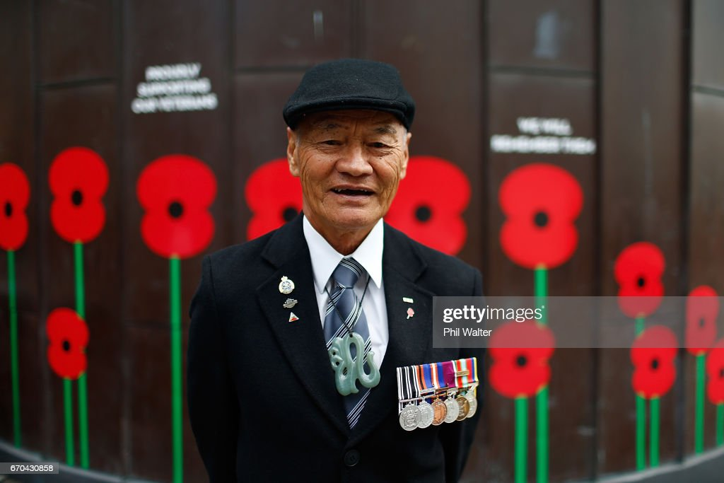 Poppy Appeal collector Sam Noon from the Auckland RSA poses for a portrait on April 20, 2017 in Auckland, New Zealand. ANZAC Day commemorates the day Australian and New Zealand Army Corp (ANZAC) landed on the shores of Gallipoli on April 25, 1915, during World War 1. Anzac day is a national holiday in New Zealand and Australia, marked by a dawn service held during the time of the original Gallipoli landing and commemorated with ceremonies and parades throughout the day.