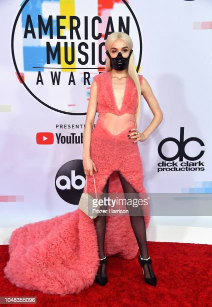 Poppy attends the 2018 American Music Awards at Microsoft Theater on October 9 2018 in Los Angeles California