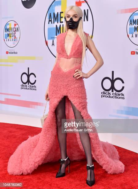 Poppy attends the 2018 American Music Awards at Microsoft Theater on October 9, 2018 in Los Angeles, California.