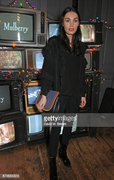 Poppy CorbyTuech attends Mulberry's 'It's Not Quite Christmas' party on November 15 2017 in London England
