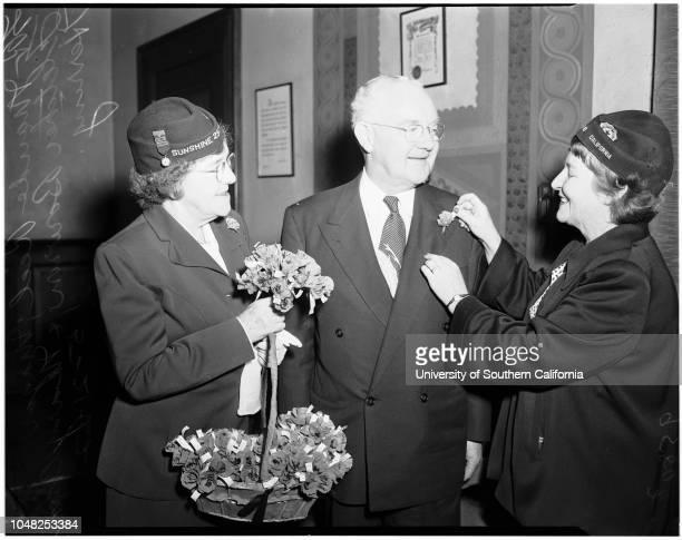 Poppy day 21 May 1952 Maude ReelMayor Fletcher BowronMary Ann Herring