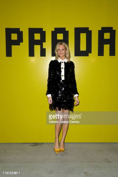 Poppy Delavingne attends the Prada Show during Milan Fashion Week Fall/Winter 2019/20 on February 21 2019 in Milan Italy