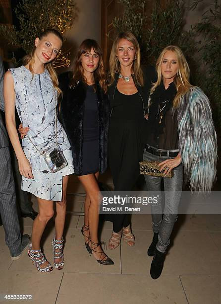 Poppy Delevingne Alexa Chung Tori Cook and Mary Charteris attends the Moda Operandi Launch Dinner at the Cafe Royal on September 12 2014 in London...