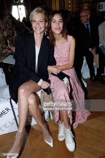 Poppy Delevingne and Alexa Chung attend the Stella McCartney show as part of the Paris Fashion Week Womenswear Spring/Summer 2019 Held at Opera...