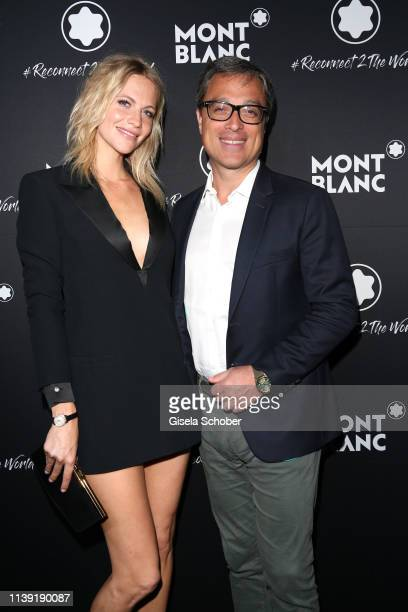 """Poppy Delevingne and CEO Montblanc Nicolas Baretzki attend the """"To Berlin and Beyond with Montblanc: Reconnect To The World"""" launch event at Metropol..."""