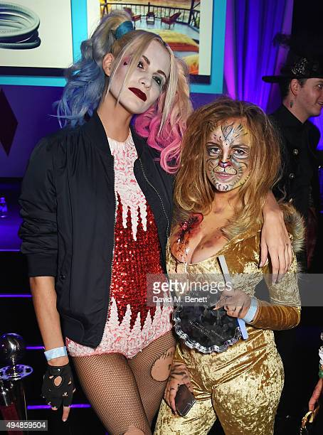 Poppy Delevingne and Charlotte Emma Freud attend The Unicef UK Halloween Ball raising vital funds to support Unicef's lifesaving work for Syrian...