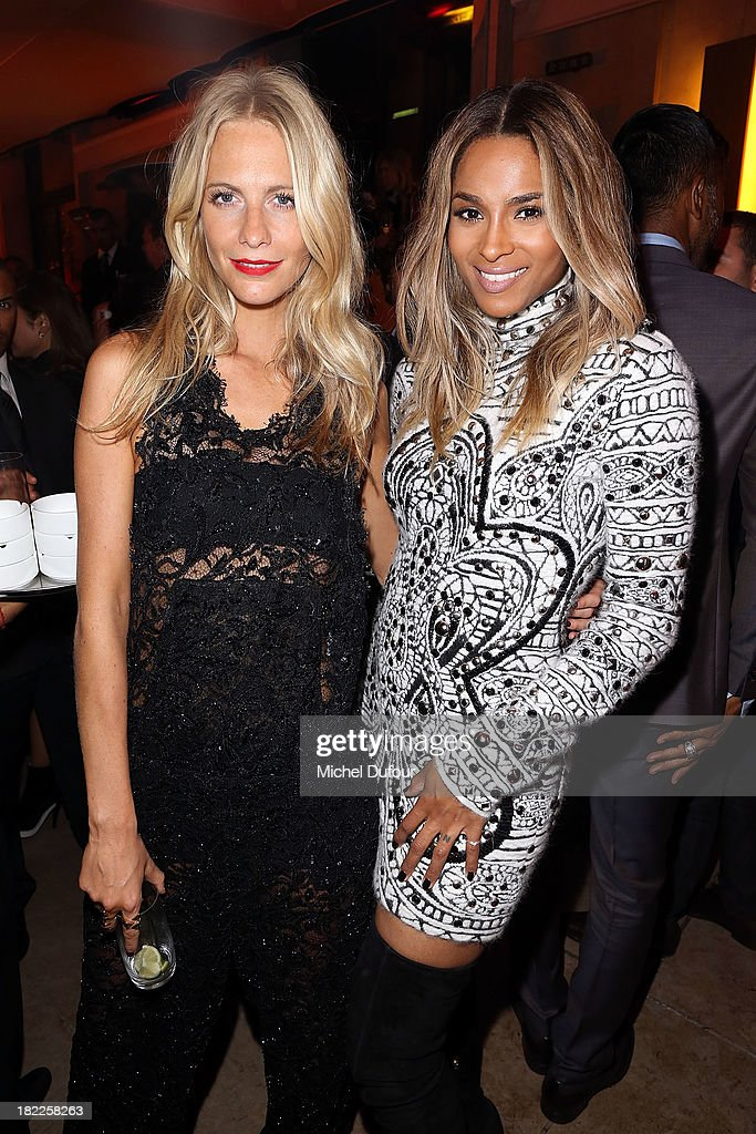 Poppy Delevingne and Ciara Princess Harris attend The Pucci Dinner Party At Monsieur Bleu In Paris on September 28, 2013 in Paris, France.