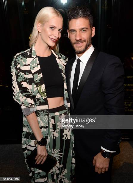 Poppy Delevingne and Erik Elias attend the Montblanc Summit launch event at The Ledenhall Building on March 16 2017 in London England