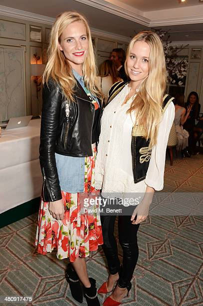 Poppy Delevingne and Florence BrudenellBruce attend the launch of 'Mrs Alice In Her Palace' hosted by Alice Naylor Leyland at Fortnum Mason on March...
