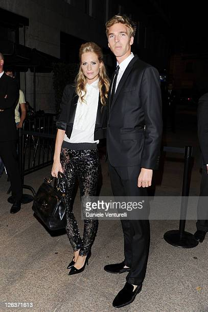 Poppy Delevingne and James Cook attend a dinner at the Dolce Gabbana Gold Restaurant as part Milan Womenswear Spring/Summer 2012 Fashion Week on...