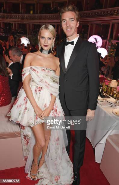 Poppy Delevingne and James Cook attend a drinks reception ahead of The Fashion Awards 2017 in partnership with Swarovski at Royal Albert Hall on...