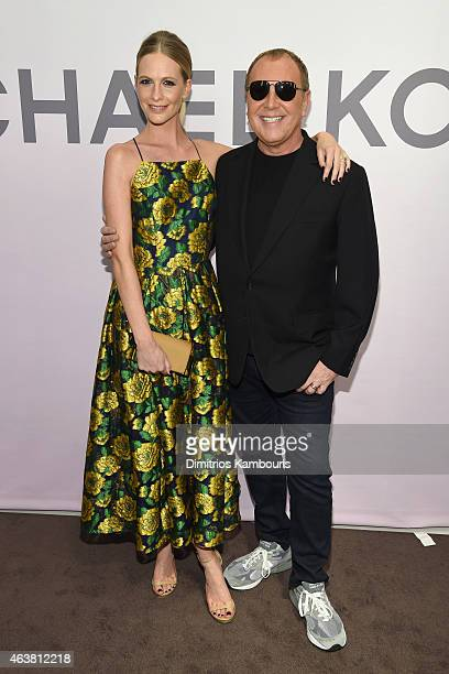 Poppy Delevingne and Michael Kors attend the Michael Kors Miranda Eyewear Collection Event on February 18 2015 in New York City
