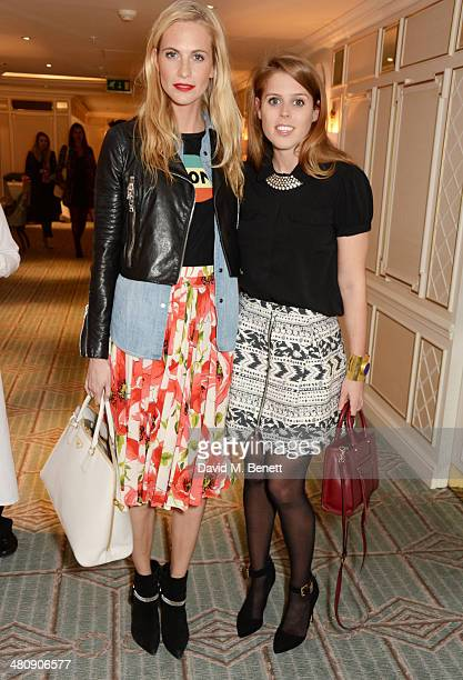 Poppy Delevingne and Princess Beatrice of York attend the launch of 'Mrs Alice In Her Palace' hosted by Alice Naylor Leyland at Fortnum Mason on...