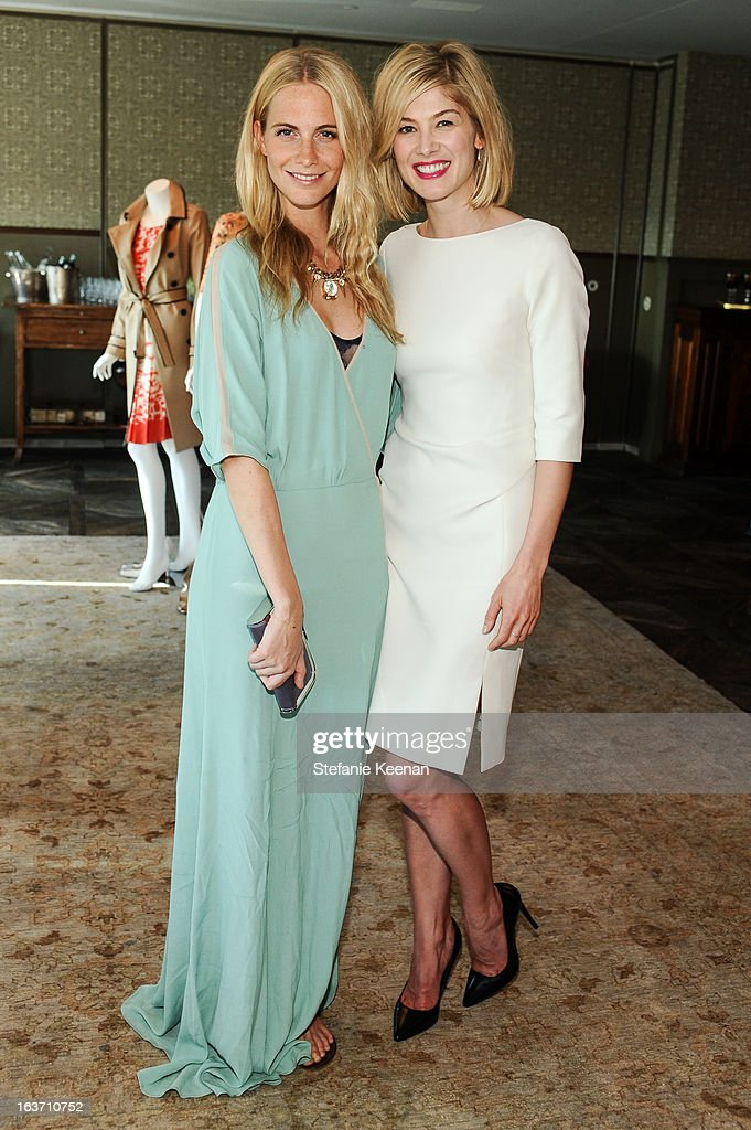 Poppy Delevingne and Rosamund Pike attend L.K. Bennett Tea Luncheon on March 14, 2013 in West Hollywood, California.