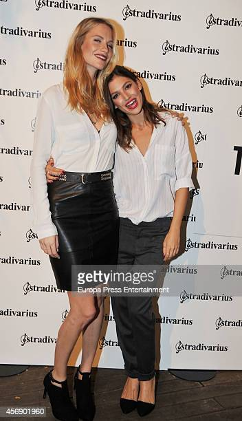 Poppy Delevingne and Ursula Corbero pose during a photocall for 'The Event Paper' party by Stradivarius on October 8 2014 in Barcelona Spain
