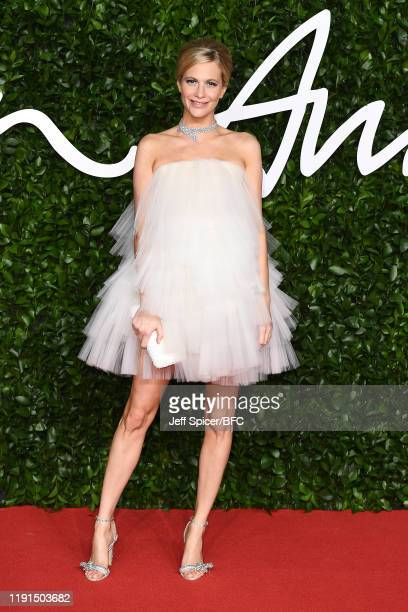 Poppy Delevingne arrives at The Fashion Awards 2019 held at Royal Albert Hall on December 02, 2019 in London, England.