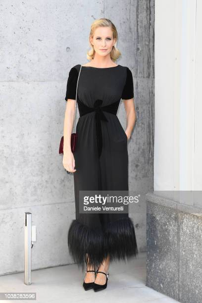 Poppy Delevingne arrives at the Giorgio Armani show during Milan Fashion Week Spring/Summer 2019 on September 23 2018 in Milan Italy