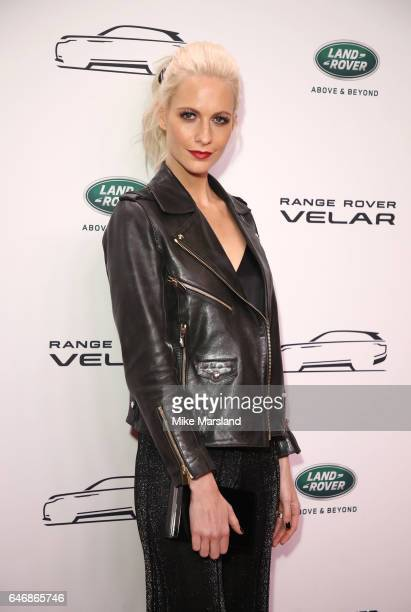 Poppy Delevingne arrives at the launch of the New Range Rover Velar on March 1 2017 in London United Kingdom