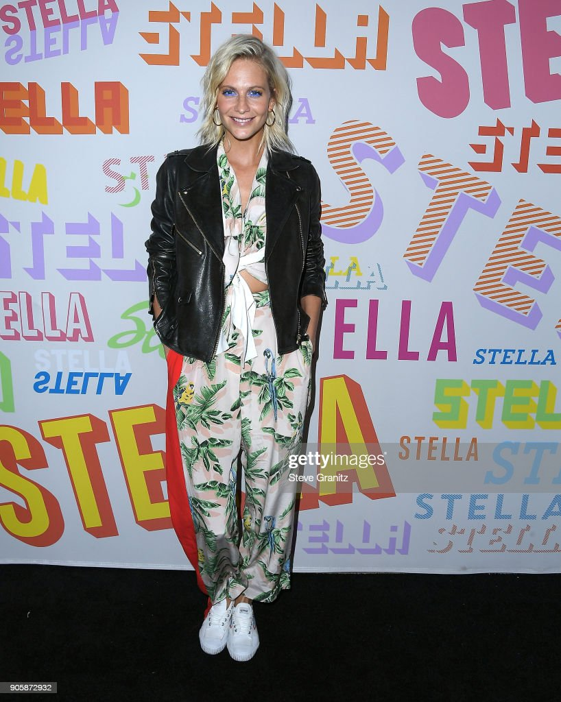 Poppy Delevingne arrives at the Stella McCartney's Autumn 2018 Collection Launch on January 16, 2018 in Los Angeles, California.