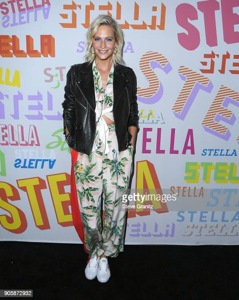 Poppy Delevingne arrives at the Stella McCartney's Autumn 2018 Collection Launch on January 16 2018 in Los Angeles California