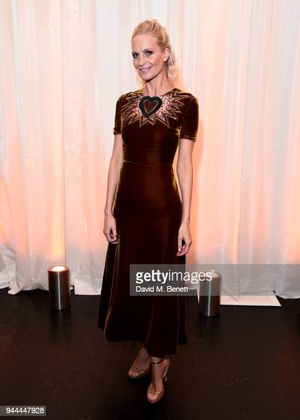 Poppy Delevingne arrives for preview screening of Genius Picasso hosted by National Georgraphic on April 10 2018 in London United Kingdom