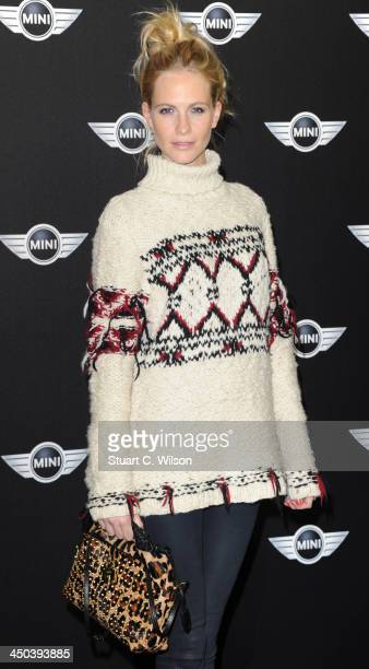 Poppy Delevingne arrives for the World Premiere Of The New MINI at The Old Sorting Office on November 18 2013 in London England